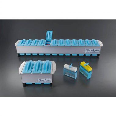 Canastilla portaláminas racks para 25 láminas con asa de plástico.